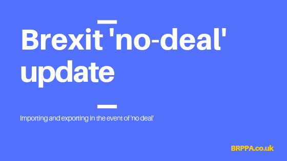Importing and exporting in the event of no deal